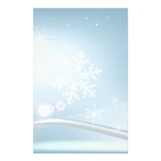 Blue Christmas Stationery Paper