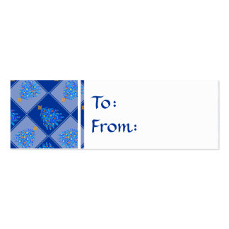 Blue Christmas Tree Colorful Holiday Pattern Business Card