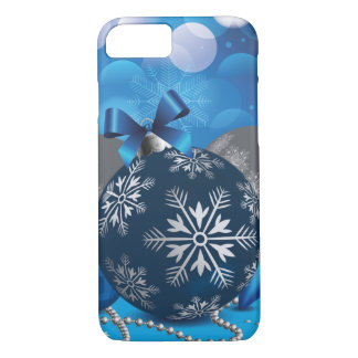 Blue christmassy iPhone 7 Case