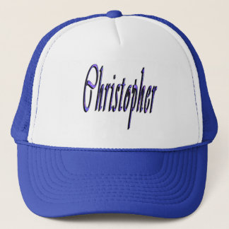 Blue Christopher, Name, Logo, Trucker Hat