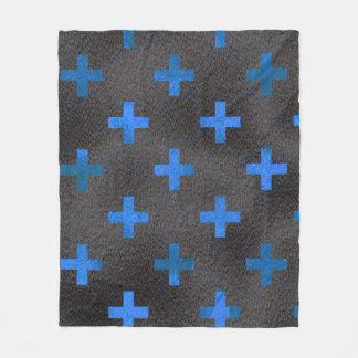 Blue Chrome Cross Pattern Blanket