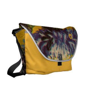 Blue Chrysanthemum Messenger Bag
