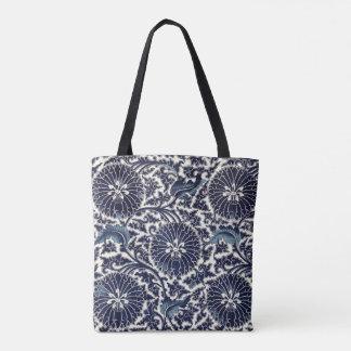 Blue Chrysanthemum Tote