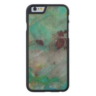 Blue Chrysocolla Jasper Carved® Maple iPhone 6 Case