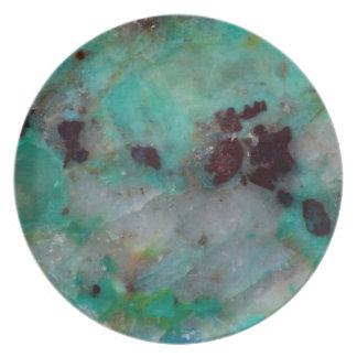 Blue Chrysocolla Jasper Plate