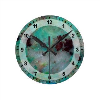 Blue Chrysocolla Jasper Wall Clock