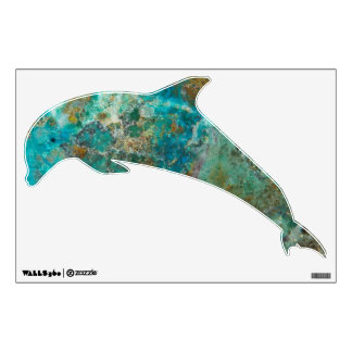 Blue Chrysocolla Stone Dolphin Wall Decal