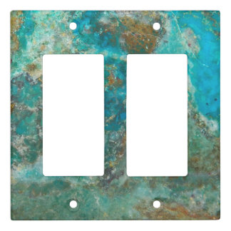 Blue Chrysocolla Stone Image Light Switch Cover