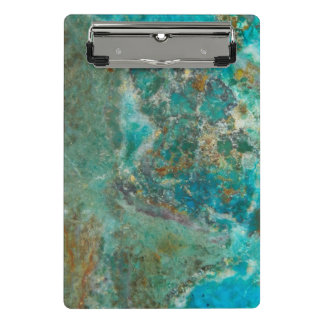 Blue Chrysocolla Stone Image Mini Clipboard