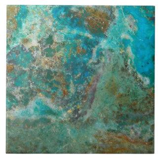 Blue Chrysocolla Stone Image Tile