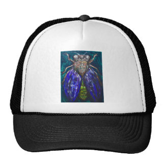 Blue Cicada (Surreal Realism insect painting) Trucker Hat