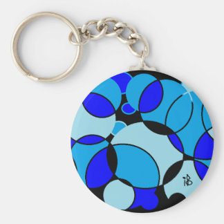 blue circle keychain