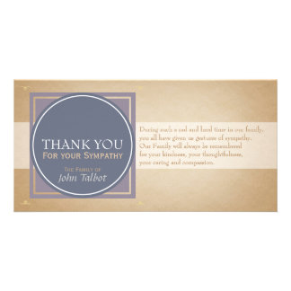 Blue Circle P Square Tags Sympathy Thank you P Photo Cards