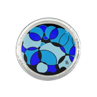 blue circle photo rings