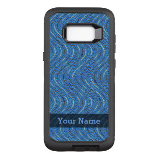 Blue Circles and Waves OtterBox Defender Samsung Galaxy S8+ Case