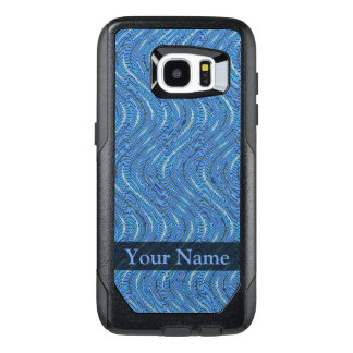 Blue Circles and Waves OtterBox Samsung Galaxy S7 Edge Case