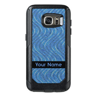 Blue Circles and Waves Pattern OtterBox Samsung Galaxy S7 Case