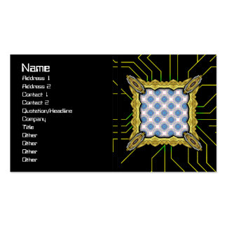Blue Circles Pack Of Standard Business Cards