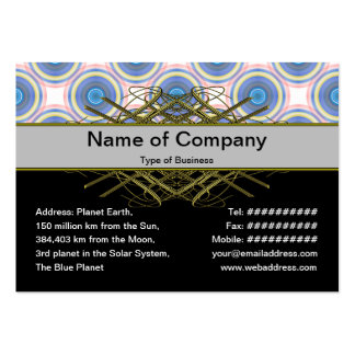 Blue Circles Pack Of Chubby Business Cards