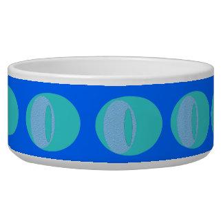 Blue Circles Dog Bowl
