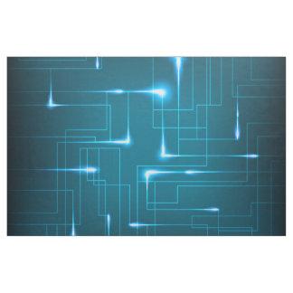 Blue circuit board design fabric
