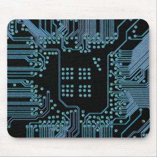 Blue Circuit Mouse Pad