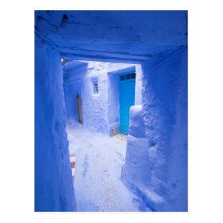 Blue City Alleyway Postcard