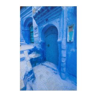 Blue City Door Acrylic Wall Art