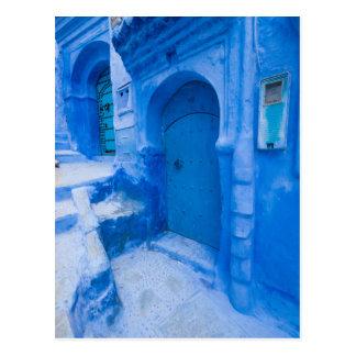 Blue City Door Postcard