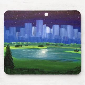 Blue City Mouse Pad