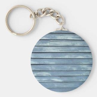 Blue Clapboard Basic Round Button Keychain