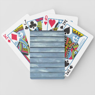 Blue Clapboard Bicycle Playing Cards