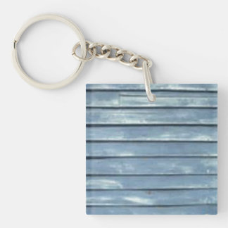 Blue Clapboard Double-Sided Square Acrylic Keychain