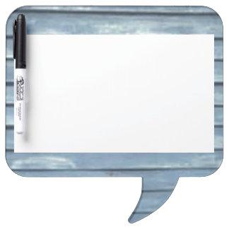 Blue Clapboard Dry Erase Board