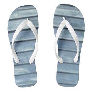 Blue Clapboard Flip Flops
