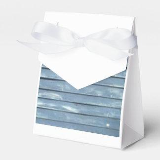 Blue Clapboard Party Favor Boxes