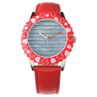 Blue Clapboard Wrist Watches