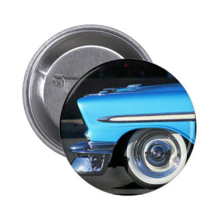 Blue Classic Car 2 Inch Round Button