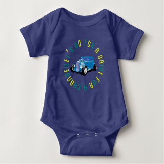 Blue classic car baby rompers blue classic car