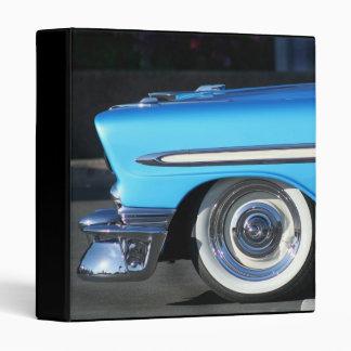 Blue Classic Car binder