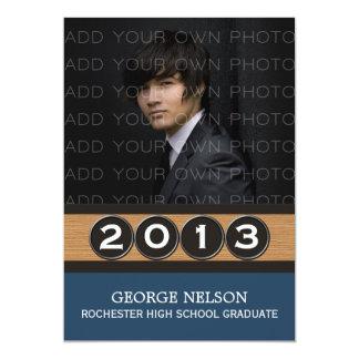 Blue Classy Keys Graduation Invitation