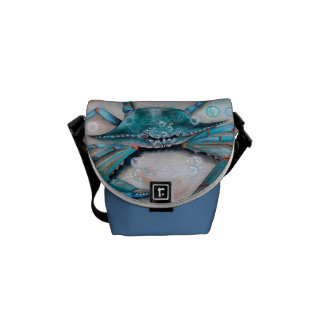 Blue Claw Crab  Messenger Bag