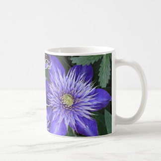 Blue Clematis Flowers Coffee Mug