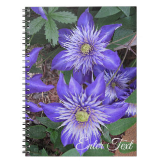 Blue Clematis Flowers Notebook