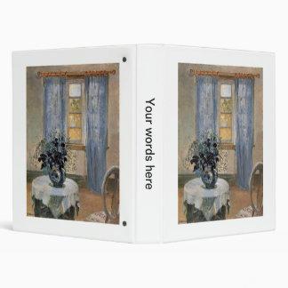 Blue Clematis in studio of the artist Anna Ancher Vinyl Binders