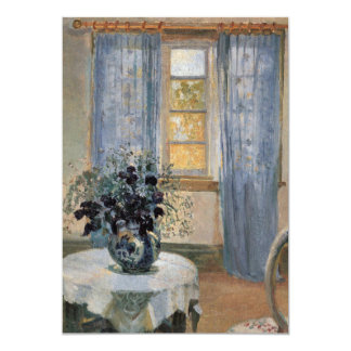 """Blue Clematis in studio of the artist Anna Ancher 5"""" X 7"""" Invitation Card"""