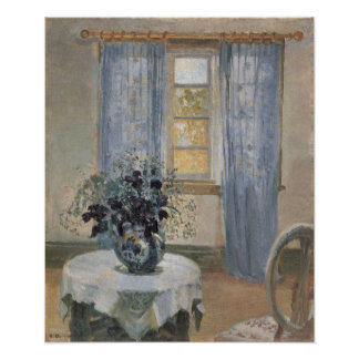Blue Clematis in the Artist's Studio, Anna Ancher Poster
