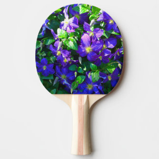 Blue Clematis Ping Pong Paddle
