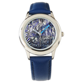 Blue clock Polissemia Watch