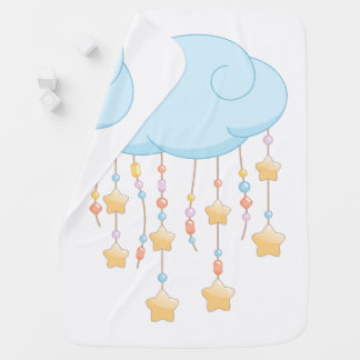 Blue Cloud Beads Stars Baby Mobile Baby Blanket
